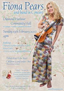Fiona Pears Diamond Harbour concert poster 20120219