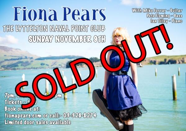 Fiona Pears - Concert - Lyttelton Naval Point Club - 20141109